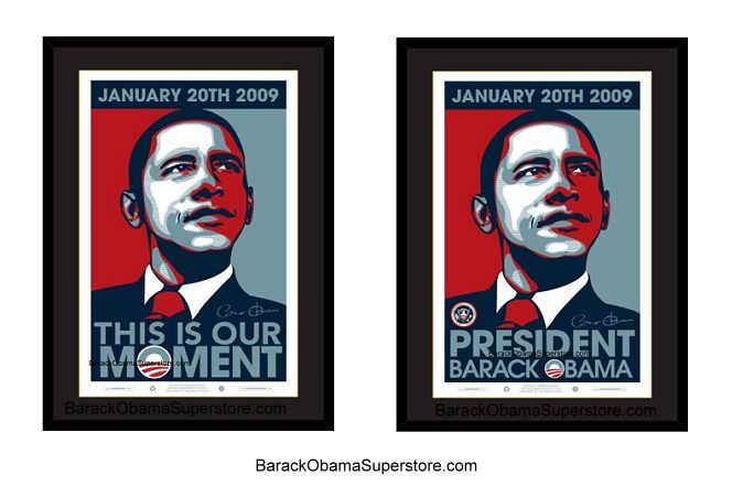 FABULOUS   FRAMED COLLECTION SET  BARACK OBAMA WITH PRESIDENTIAL