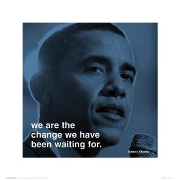 BARACK OBAMA WORDS OF WISDOM FINE ART PRINT